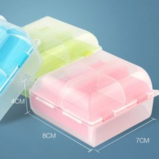 Portable Mini Double Layers Transparent Pill Case, Large Capacity Travel Outdoors Small Jewelry Storage Box