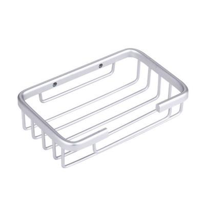 Black Bathroom Dish Plate Case Home Shower Basket Container Soap Box Aluminum