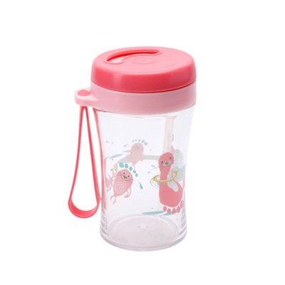Safe Material Bottle with Straw Leak-proof Glass Choke-resistance for Baby Learning Drink Cup