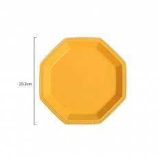 Geometrical Dish Porcelain Material Tray for Home Hotel Foods Hollow-ware Elegant Plate