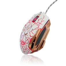 Wired Mouse DPI Adjustment with LED Lighting Metal Base for Game Mouse