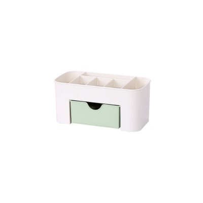 Cosmetic Case PP Powder Box Dressing Container Large Capacity Storage Makeup Box with Drawer Vanity Case