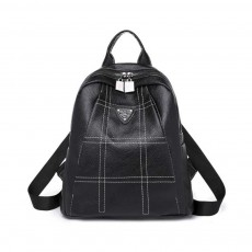 Magnetic Elegant Girl Travel Backpack, Fashion Plaid Casual PU Leather Rucksack Shoulder Bag