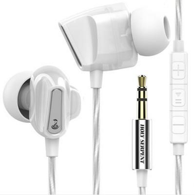 Wire Earphone Anti-pulling Wire Headset Comfortable Wearing HIFI Effect Earpiece Double Dynamic Earplug