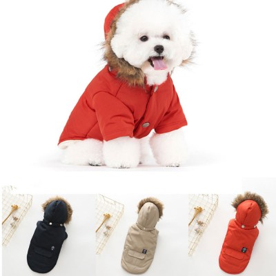 Pet Dog Clothes Two Legs Down Coat with Hat for Puppy Autumn Winter New Arrival