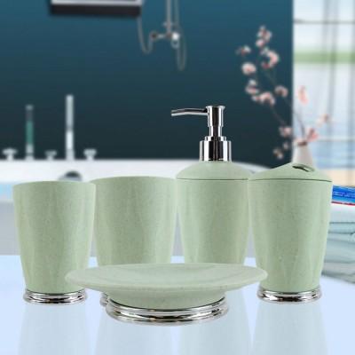 4 PCS Simple Fiber Wooden Bathroom Wash Supplies Set For Wedding Home Hotel