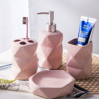 4 Pieces Ceramic Bathroom Accessories