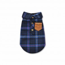 Fashionable Plaid Pet Clothing, Nontoxic Fine Cotton Shirt for dogs, Double-deck Thickened Dog Clothes Autum Winter