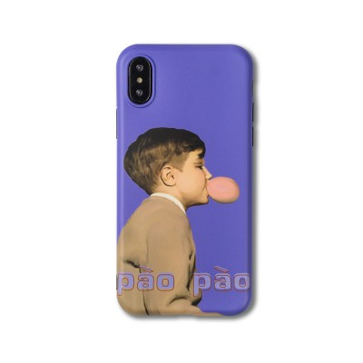 Soft TPU Purple Boy Case Shockproof Drop Resistant Protective Cute Lovely iPhone Case