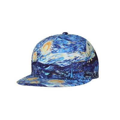 Flat-brimmed Baseball Cap, Street Dance & Hip-pop Cap, 3D-printed Cap for Male & Female