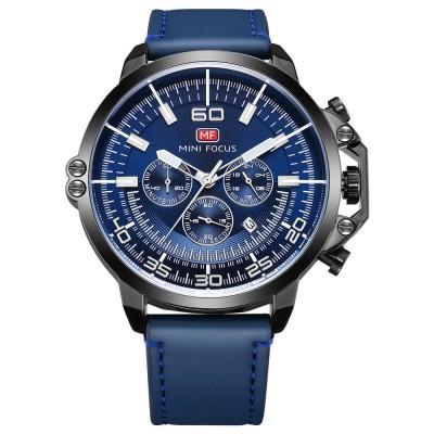 Waterproof Business Luxury Quartz Wrist Watch for Man, Genuine Leather Strap Band, Luminous Calendar Function