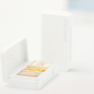 Mini Bluetooth Electronic Pill Box Audio Smart Pill Reminder Automatic Medication Records Medicine Organizer