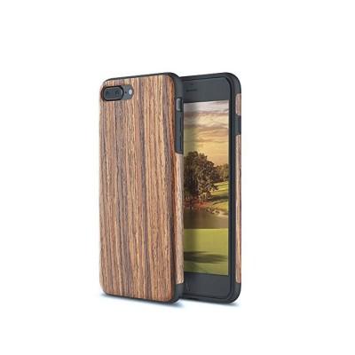 Silicone Anti-fall Phone Case, Fashion Original Phone Case, Wood-made Phone Case for iPhone XS Max, X, XS, 7 Plus, 8 Plus, 7, 8, 6, 6s, XR