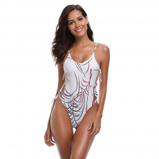New Western One-piece Swimsuit Sexy Bikini with Special Tie Knot for Beach Swimming Pool