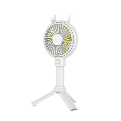 Mini Portable Hand-held Folding Fan, USB Rechargeable Noiseless Fan with Phone Stand for Office & Household