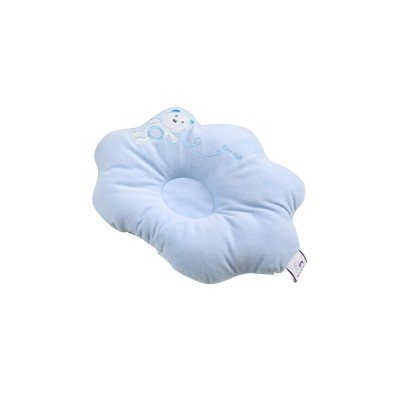 Bear-pattern Baby Shaped Pillow, Cotton Baby Pillow Ventilate For All Seasons 0 To 24 Months Infant Newborn Boys And Girls