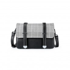 2019 British Style Women Shoulder Bag Crossbody Plaid Sling Dual Used Bag, Euramerican Fashion Contracted Square Bag