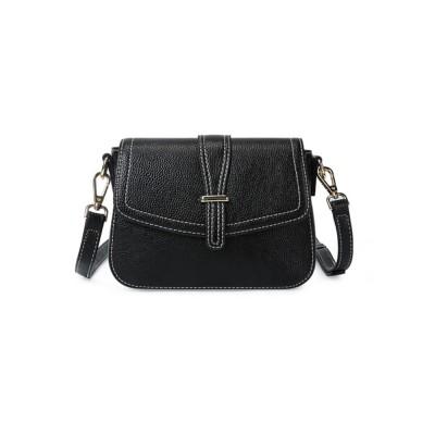 Stylish Women Shoulder Bag Compact PU Messenger Bag with Metal Buckle Spacious Storage Space