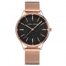 Japanese Women's Minimalist Ultra Thin Watch, Analog Quartz Stainless Steel Mesh Watch