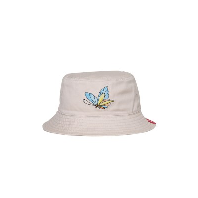 Outdoor Embroider Double Women Bucket Hat Sunscreen Stackable Cotton Hat for Fishing Hiking Climbing