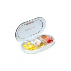 Premium Travel Pill Organizer Case Dust-Proof 6 Compartments Portable Weekly Pill Box for Medication Vitamin