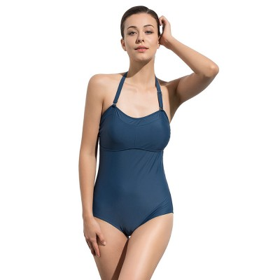 Sexy Stylish One-Piece Women Bikini with Adjustable Buckle Design Belly Cover Two Colors Optional for Lady