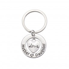 Delicate Love Lettering Alloy Stainless Steel Kay Chain for Men Women, Stylish Bag Decoration Key Accessory Gifts for Mother