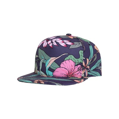 Unisex 3D Floral Print Baseball Hat Breathable Fashion Summer Hat Snap Back Hip Pop Baseball Caps for Travel Running