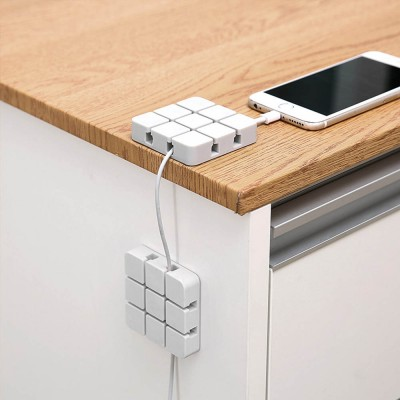 Mini Silicone Cable Management Wire Holder Adhesive Charging Cable Storage  Hub Home Office Car Desk Accessories