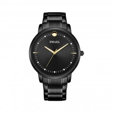 SMAEL Men's Fashion Casual Quartz Watch Outdoor Waterproof Calendar Wristwatch With Stainless Steel Strap