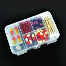 10 Slots Transparent Weekly Pill Box, Safe PP Plastic Storage Box Portable Pill Organizer Case for Travel Home Use