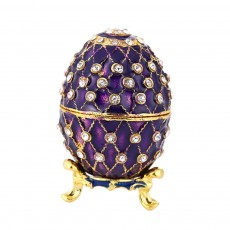 New Easter Egg Shape Jewelry Box, Zinc Alloy Oval Gift Box, Exquisite Vintage Decoration