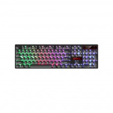 Retro Punk Mechanical Keyboard with Wire Game Keyboard Light Computer Accessories