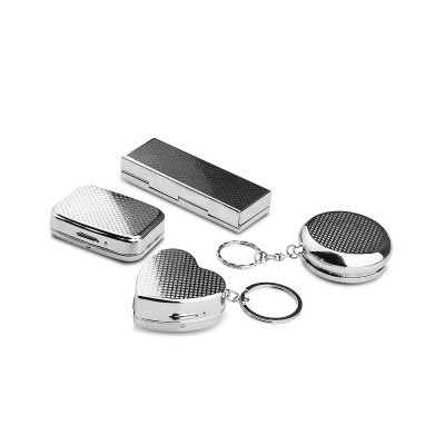 Stainless Steel Pill Holder, Creative 4 Shapes Pill Box With Inner Grid Design