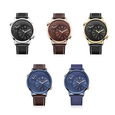 Imported Movement Men's Watch, Leisure Luminous Crystal Cover Watch with Double Movement