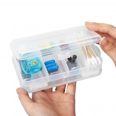 Transparent Pill Organizer For Small Medicine Bottle Wound Paste, Two-layers Portable Travel Medicine Box