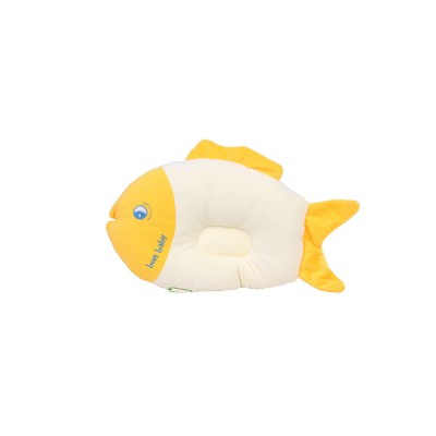 Fish-design Cotton Baby Pillow, Head-shaping Pillow for Preventing Plagiocephaly