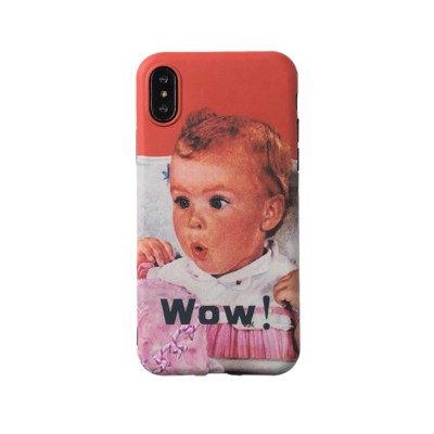 Cute Vintage WOW Girl Phone Shell for iPhone 6/6s, 6p/6sp, 7p/8p, X/XS, XR
