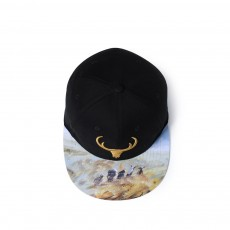 Stereo Embroidery Printed Cotton Hip-hop Cap, Original Outdoor Baseball Cap for Man