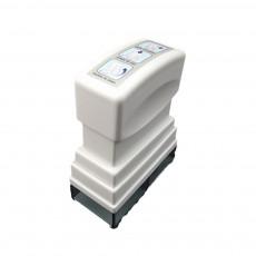 Stamper Shape Pill Cutter Box for Children Elderly, Sharp Stainless Steel V-shape Medicine Cutter Splitter