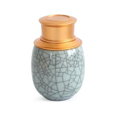 Decorative Porcelain Pill Box, Vintage Airtight Trinket Box Storage Jar For Tea-leaves, Candy, Pills, Medicine