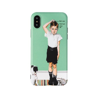 Creative Phone Case Retro Europe and America Matte Soft TPU Back Case Cover Phone Protective Shell for iPhone 6s 7/ 7 Plus / 8/ 8 Plus/XS/X MAX/XS MAX/XR