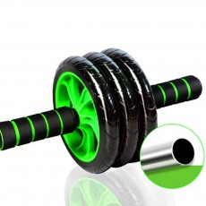 Removable Power Roller with Kneeling Mat and Safety Elastic Rope for Waistline Exercise Abdominal Training