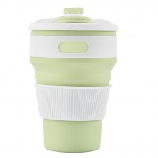 Silicone Sports Cup with Folding Design, Creative Portable Folding Coffee Cup, Shock Resistant to Fall Travel Silicone Water Cup