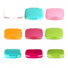 Food Grade Odorless Medicine Box, Sealed Gasket Pill Case, Detachable Insert Weekly Pill Box for Elderly Children Office Worker