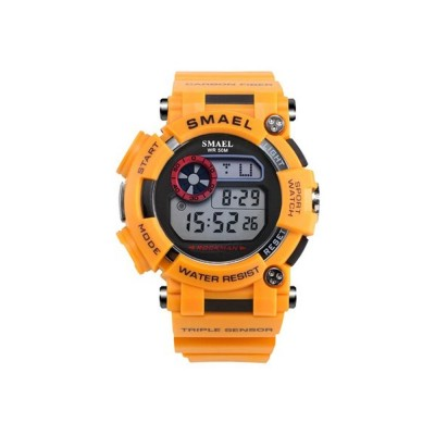 Waterproof Luminous Electronic Watch Red Display For Men Multifunctional Professional Sports Watch