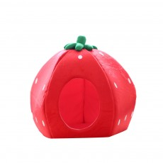 Strawberry Cat House, Washable Soft Durable Detachable Pet Nest, Autumn Winter Pet Accessories Thickened Pet Bed