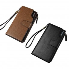 High-End Business Men's Handbags, Zipper Multifunctional Leather Clutch Wrist Bags