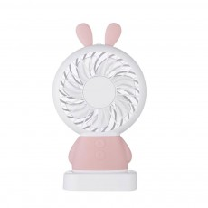 New Rabbit Mini Handheld Fan, Dharma Bear Night Light USB Charging Fan, Outdoor Compact and Convenient Electric Fan