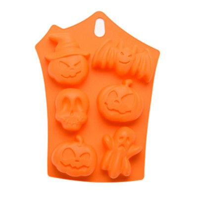 Silicone Cake Mould with Portable Hole, Halloween Style Baking Cake Mold, High Temperature DIY Baking Utensils